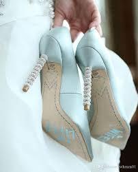 pompã se brautkleider genuine leather poined toe pumps mint green gold bridal