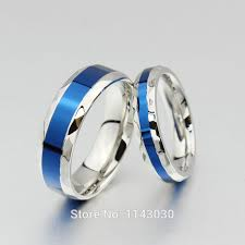 blue titanium wedding band blue titanium rings women wedding ring men promise ring
