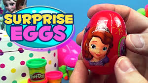 easter eggs filled with toys disney easter eggs candy filled eggs unwrapping