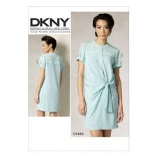 vogue ladies sewing pattern 1488 tie front shirtdress u0026 slip