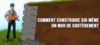 bloc de pierre pour mur comment construire un mur de soutènement en béton