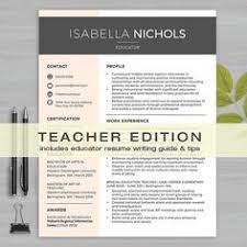 Sample Resume Of A Teacher by Resume Teacher Template For Ms Word Educator Resume Writing