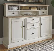 sarvanny two tone home office large credenza with hutch for