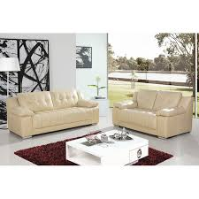 Newham Ivory Cream Leather Sofa Collection - Cream leather sofas