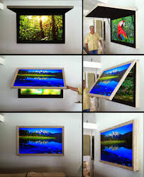 mirror cabinet tv cover hidden tv cabinet with tvcoverups frame tv with art cover or behind