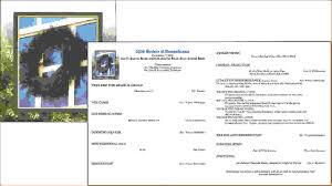 Sample Of Funeral Programs 14 Funeral Service Programagenda Template Sample Agenda Template