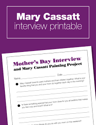 mother u0027s day with mary cassatt u2014 art history kids