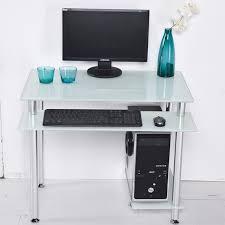petit bureau d ordinateur ordinateur de bureau bureau de bureau à domicile table en verre