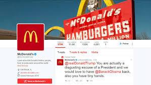 mcdonald u0027s deletes trump tweet says twitter account compromised