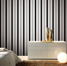 Black And White Striped Wallpaper by Brief Silver Black White Striped Wallpaper Metallic Vintage Wall
