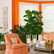 Traditional Home Living Room Decorating Ideas by Decorating With Orange An Instant Pick Me Up Traditional Home
