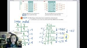 unit 4 lesson 7 linear quadratic and exponential models lessons