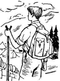 cub scout camping coloring pages printable scouting outdoor