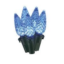 trim a home 200ct c6 led lights on a reel blue