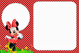 Mickey Mouse Birthday Invitation Card Minnie In Red Free Printables And Party Invitations Right Click