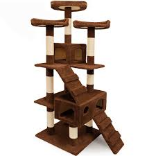 Cat Scratcher Tower Large Cat Tree With Scratching Post 175cm Large 3 Platform Kitten