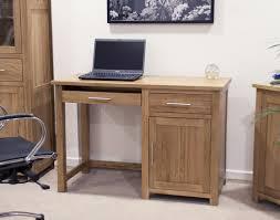Pedestal Computer Desk Opus Solid Oak Small Single Pedestal Desk Oak Furniture Uk