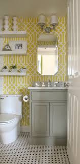 wallpaper bathroom ideas citrus colors are back tour these 7 summery bathrooms