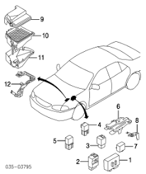 mazda familia protégé parts and electrical system diagram