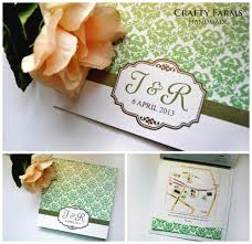 Wedding Invitation Cards Malaysia Wedding Card Malaysia Crafty Farms Handmade Emerald Green