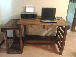 Diy Pallet Wood Distressed Table Computer Desk 101 Pallets by 14 Best Pallet Computer Table Images On Pinterest Furniture