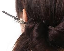 kanzashi hair pin japan trend shop wargo nippon samurai sword kanzashi hairpin