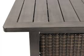 Bar Height Fire Table Agio Davenport Bar Height Fire Table Mathis Brothers Furniture