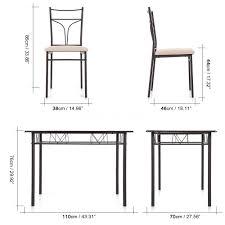 metal frame table and chairs ikayaa new 5 piece metal frame dining table set 4 chairs kitchen