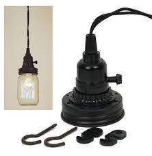Mason Jar Pendant Light Mason Jar Pendant Lamp Kit Rustic Brown Ctw Home Collection