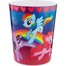 Bedroom Wastebasket Hasbro U0027s My Little Pony Waste Basket Walmart Com