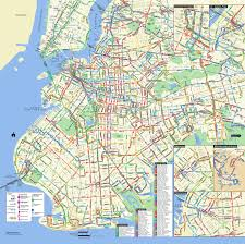 Map Ny Large Detailed Brooklyn Bus Map Nyc New York City Brooklyn Large