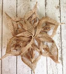 burlap snowflake ornament may arts wholesale ribbon company