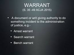 Bench Warrant Procedures Warrant Arrest Search Remand Bail And Human Rights Issues