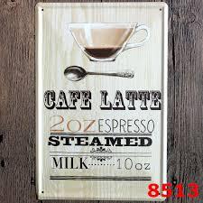 retro 20 30cm coffee shop metal painting tin sign wall decor cafe