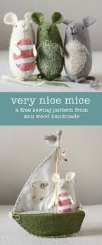diy uber mice pattern and fabric toys