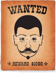 old western wanted poster on royalty free vector background stock