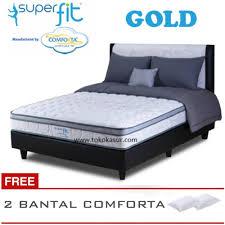 spring bed spring bed comforta super fit gold uk 180x200 komplit set lazada