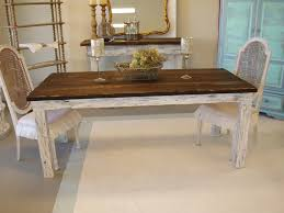 Country Chic Dining Table Dining Rooms - Shabby chic dining room set