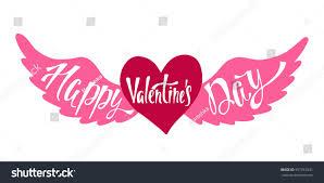 happy valentines day banner happy valentines day banner handwritten vector stock vector