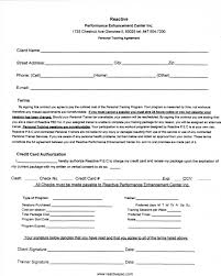 contract personal training contract template