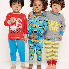 autumn boys pajamas sleeve cotton pajamas sets