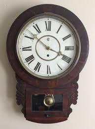 beautiful antique waterbury wall clock ca 1800 u0027s runs well