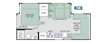 freedom elite class c motorhomes floor plan 24fe thor motor coach
