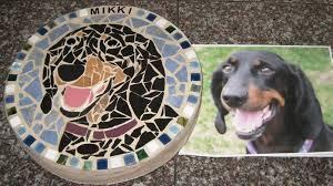pet portrait mosaic memorial stones k dub designs specializes in