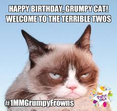Grumpy Cat Meme Happy - one charming party birthday party ideas happy birthday grumpy cat