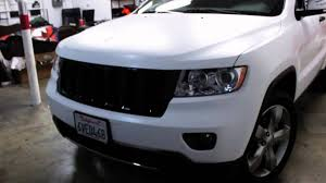 charcoal jeep grand cherokee black rims 2012 jeep grand cherokee wrapped in satin laminated white by