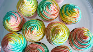 rainbow cupcake frosting ever so britty