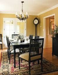 Faux Leather Paint - minneapolis paint table black dining room traditional with