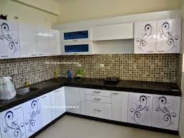 flower floral design modular kitchen with customized creeper