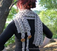 braided scarf knit look braided scarf bonita patterns